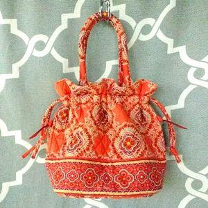 Vera Bradley Paprika Print Emma Drawstring Bag